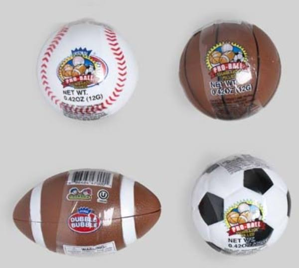 Double Bubble Pro-Ball Keychain and Candy - 12ct