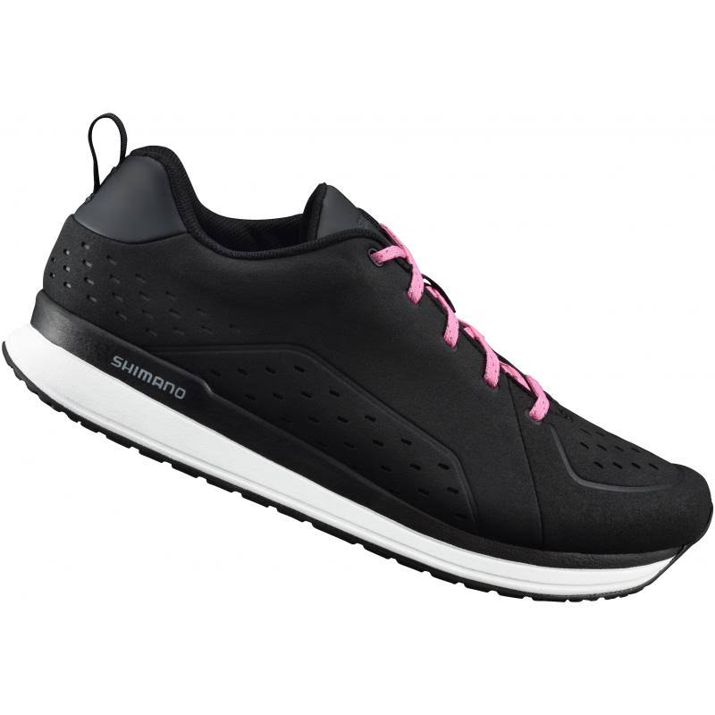 Shimano CT5W Women's Trekking City Road Bike Shoes - Black/Pink, Size 7 US