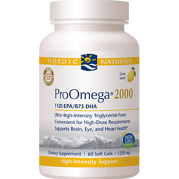 Nordic Naturals Proomega 2000 Supplement - Lemon, 60 Soft Gels, 1250mg