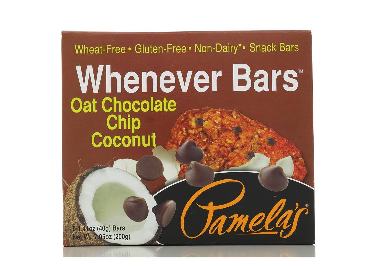 Pamela's Products Gluten Free Chocolate Chip Coconut Whenever Bars - 40g, 5 Pack