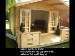 how to build a log cabin or summerhouse in your garden youtube