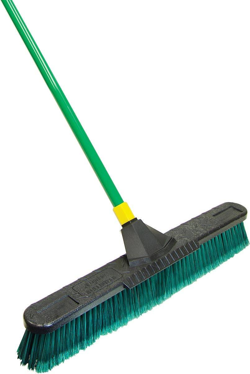 Quickie Bulldozer Multi-surface Push Broom - with Scraper, 24""