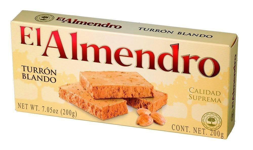 El Almendro Turron Blondo Traditional Soft Spanish Torrone - with Roasted Almonds