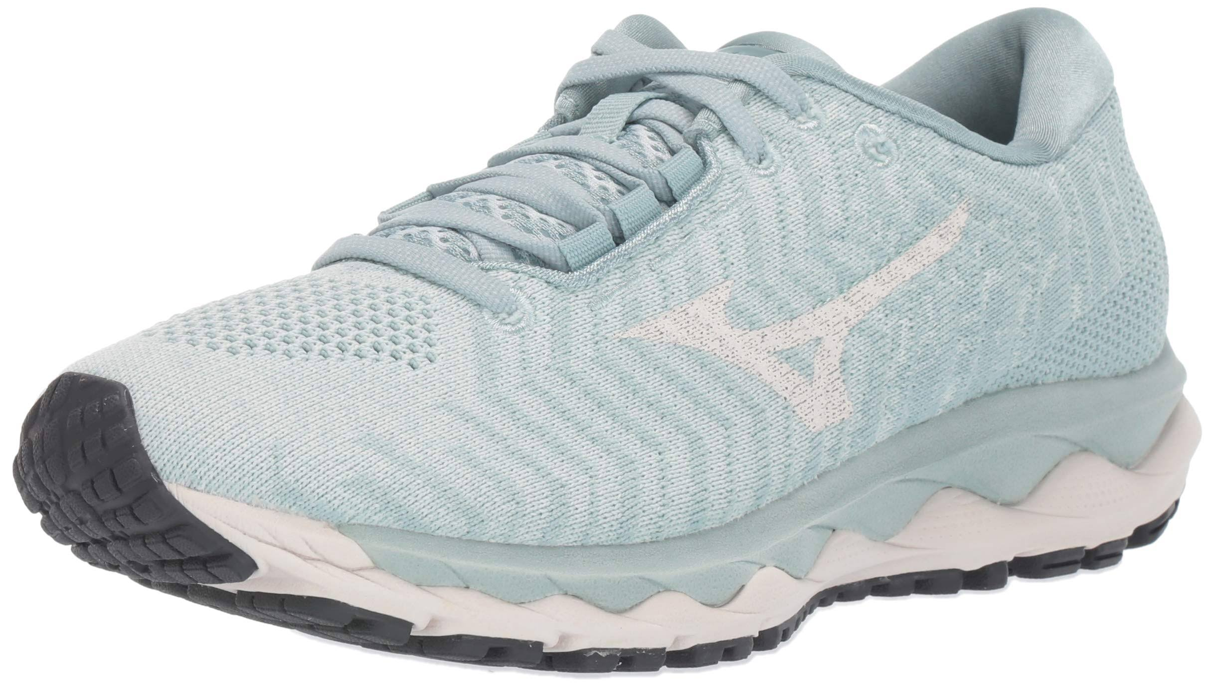 Mizuno Women's Wave Sky Waveknit 3 Shoes Sprout Green / Snow White 9