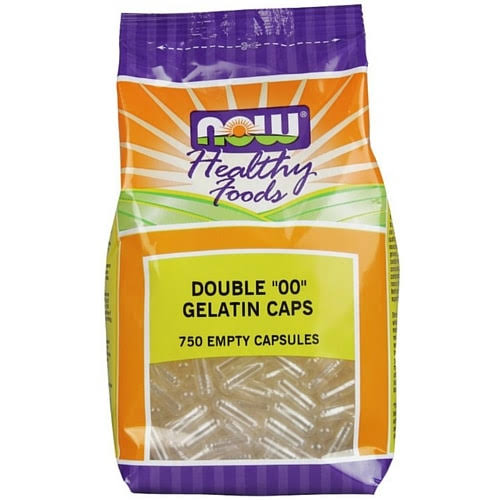 Now Foods Size 00 Empty Gelatin Capsules - 750 Caps