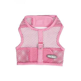 Bark Appeal PPNWNG-XS Wrap N Go Netted Cloth Hook & Eye Harness Pink - Extra Small