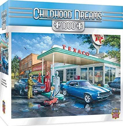 Masterpieces Childhood Dreams Pop's Quick Stop Getting Gas Jigsaw Puzzle - 100pcs