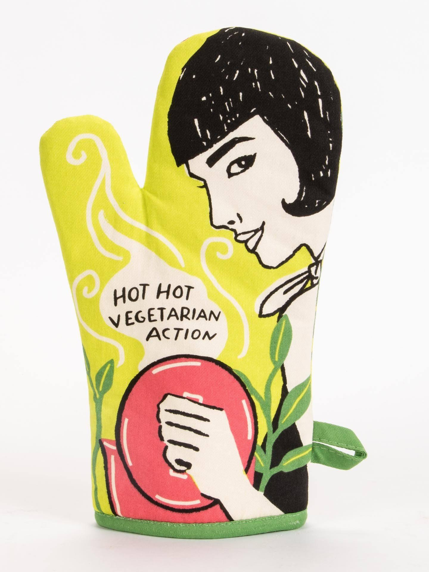 Blue Q Hot, Hot Vegetarian Action - Oven Mitt