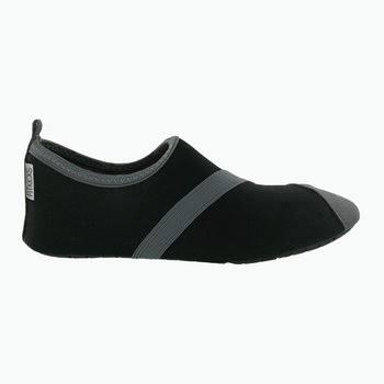 FitKicks Women's Active Footwear - Black and Grey, Medium