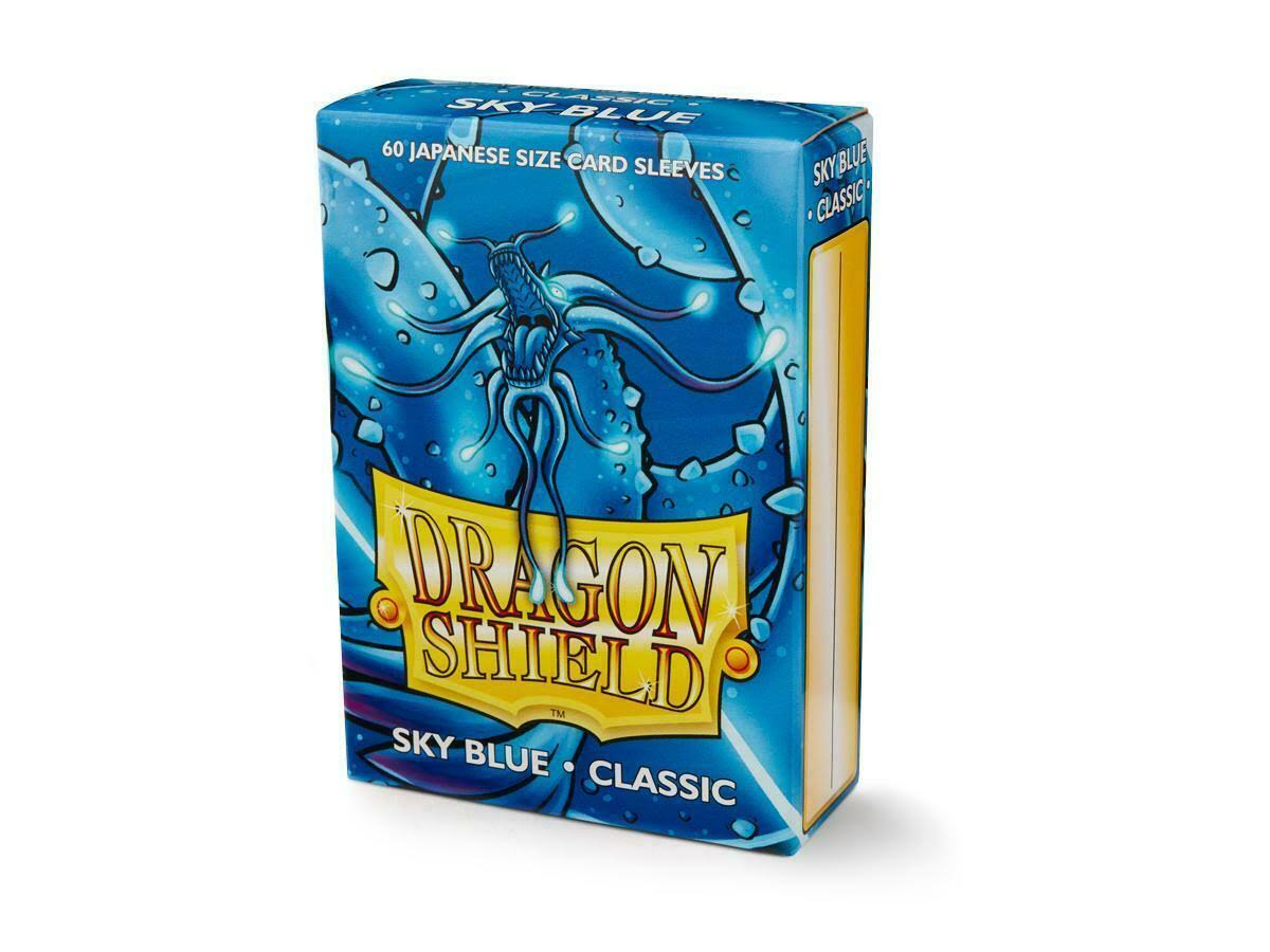 Dragon Shield Classic Sky Blue Japanese Size Card Sleeves - 60ct