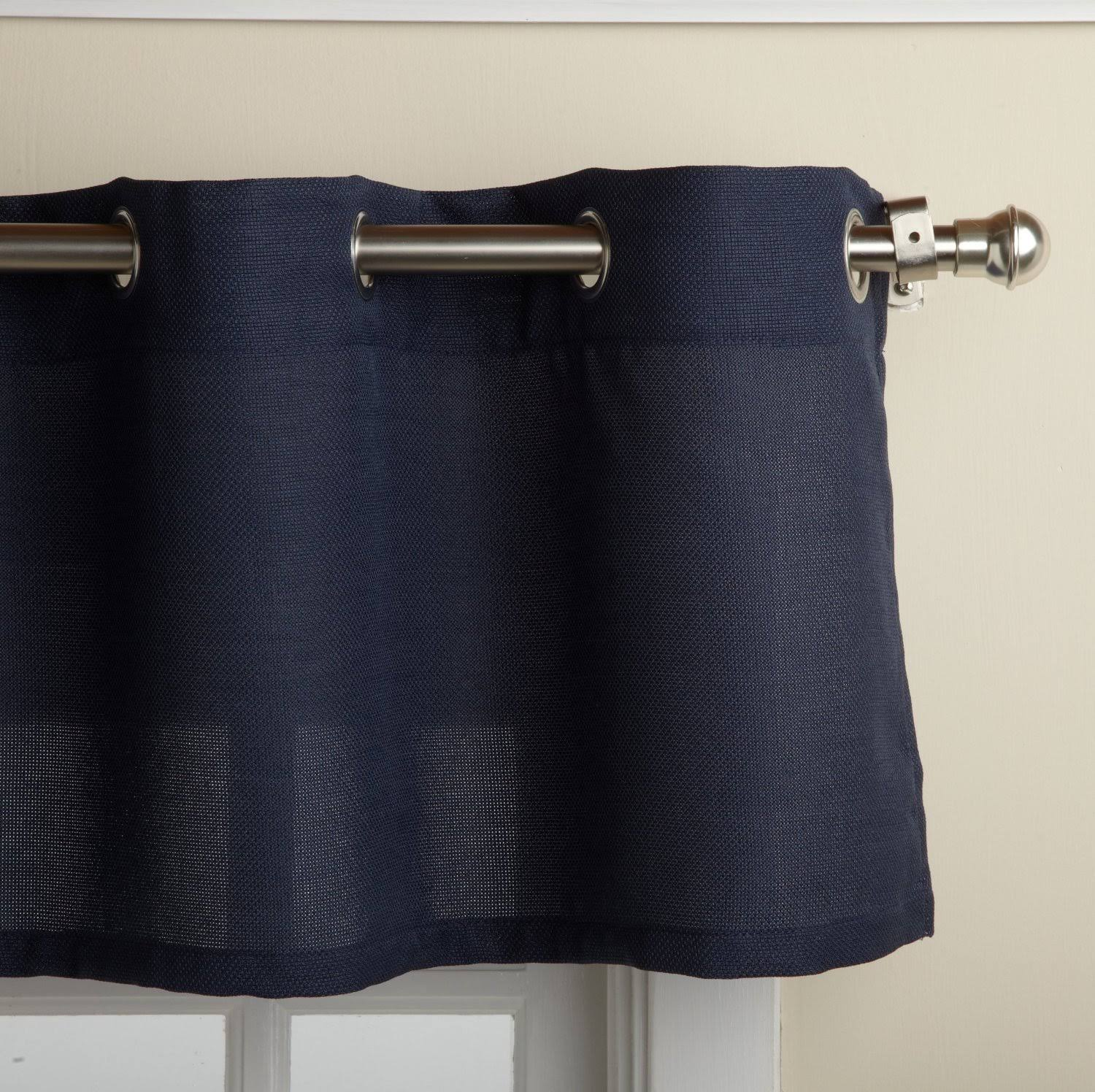 Lorraine Home Fashions Jackson 58-Inch x 12-Inch Valance, Navy