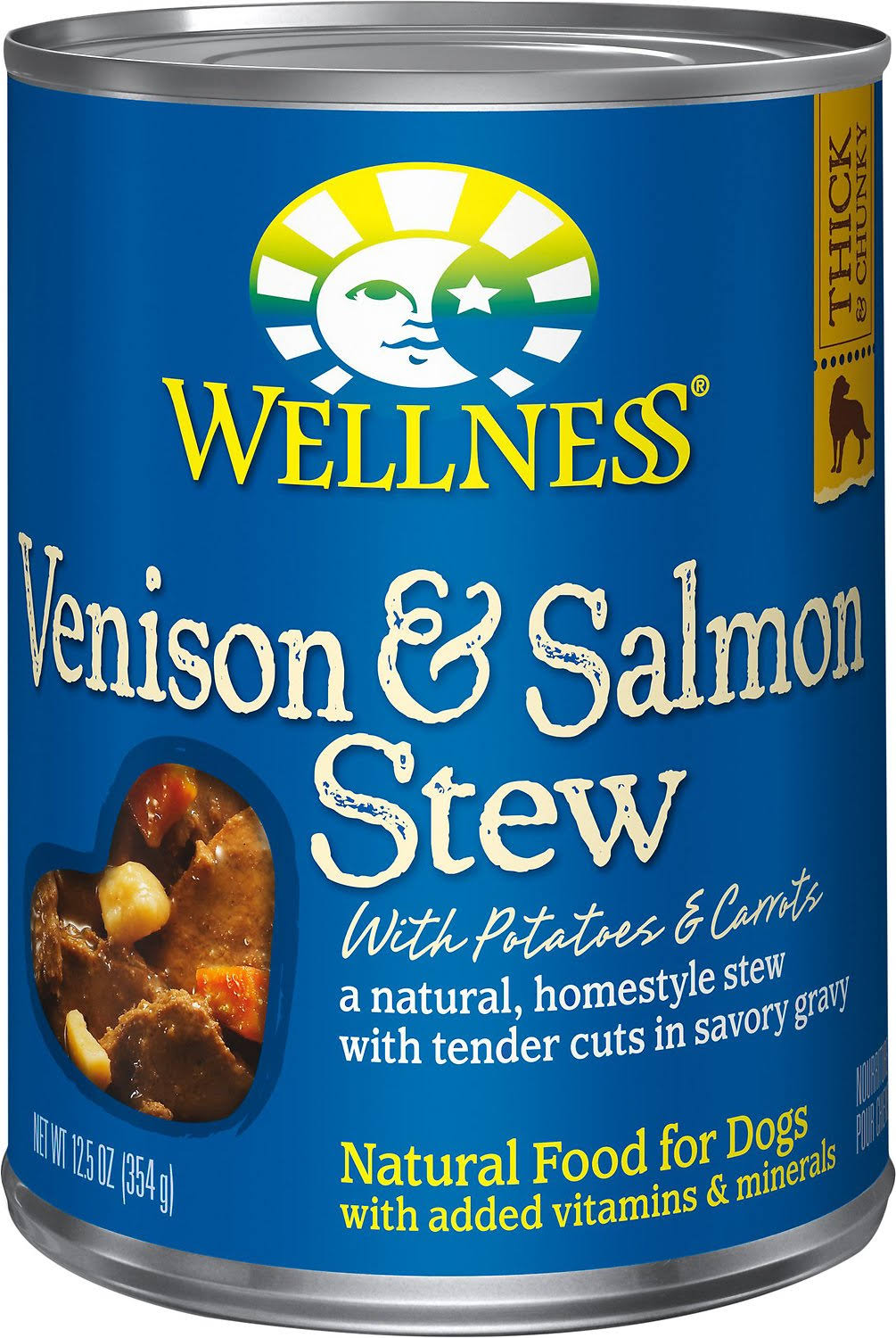 Wellness Natural Food for Dogs - Venison & Salmon Stew with Potatoes Carrots