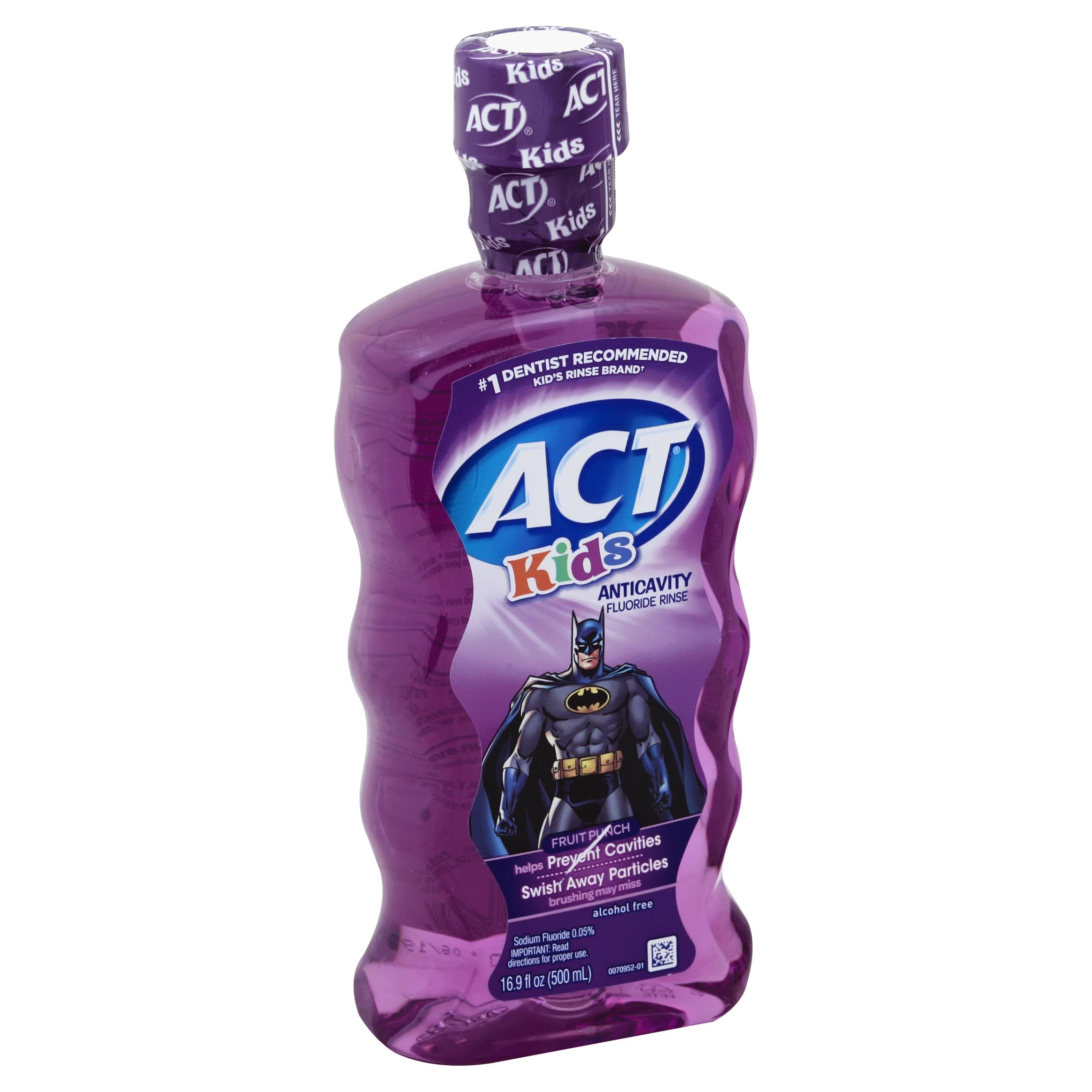 ACT Kids Anticavity Fluoride Rinse - Fruit Punch, 16.9oz