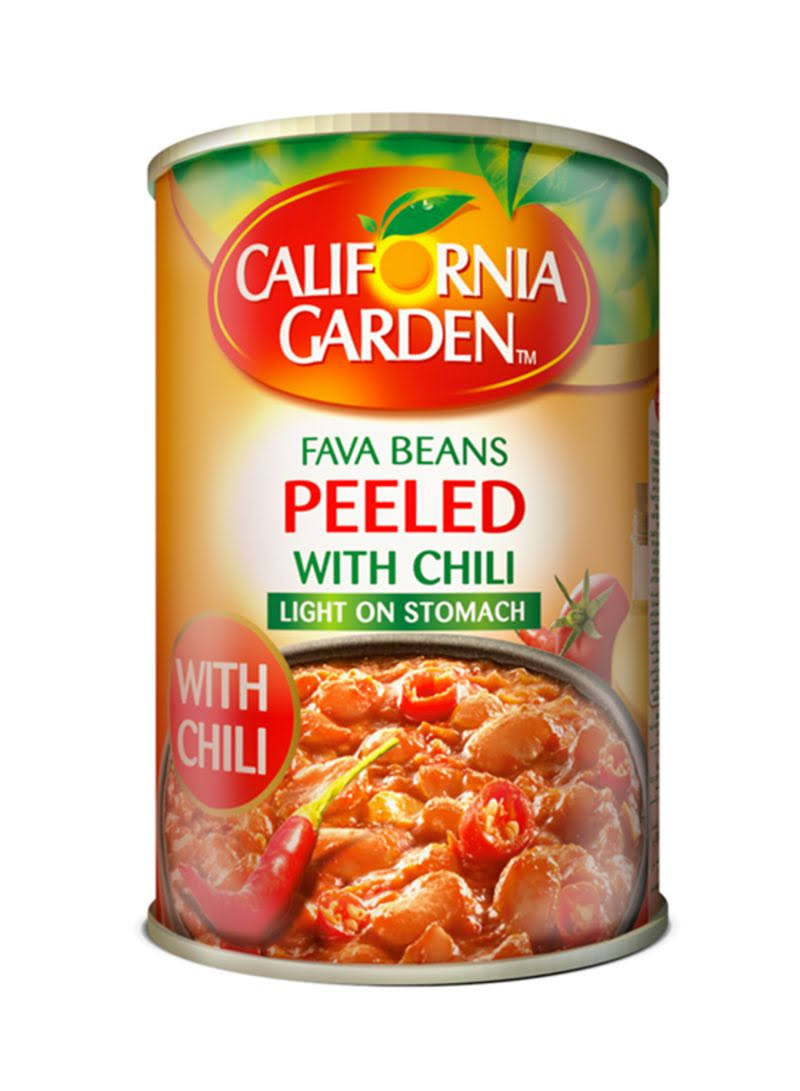 Gulf Food Industries Peeled Fava Beans With Chilli - 400g