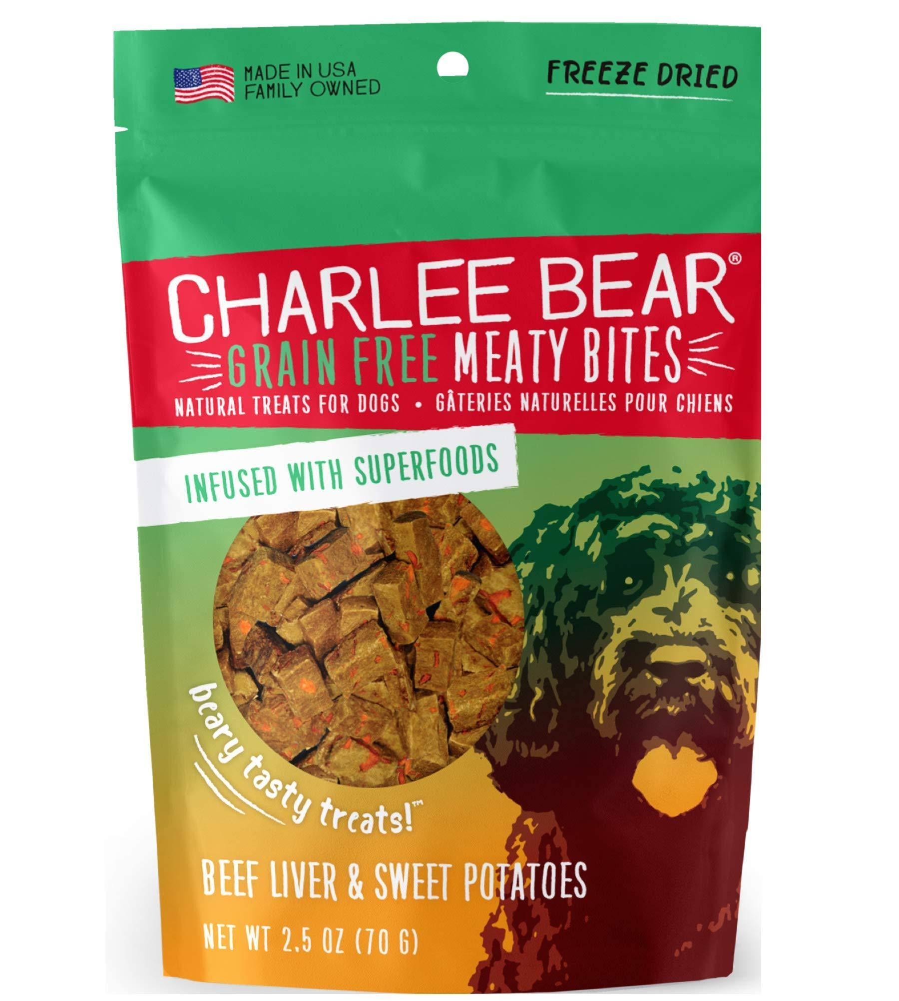 Charlee Bear Meaty Bites Beef Liver Sweet Potatoes Dog Treats, 2.5 oz