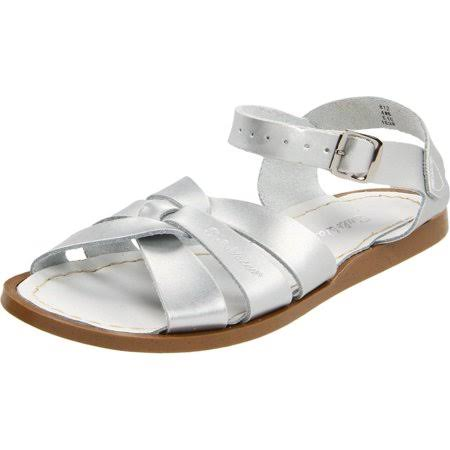 Salt Water Sandals by Hoy Shoe Original Sandal - Silver - Little Kid 1 - 812-SILVER-1