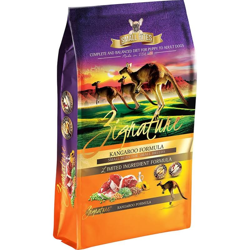 Zignature Small Bites Kangaroo Dry Dog Food 4lb