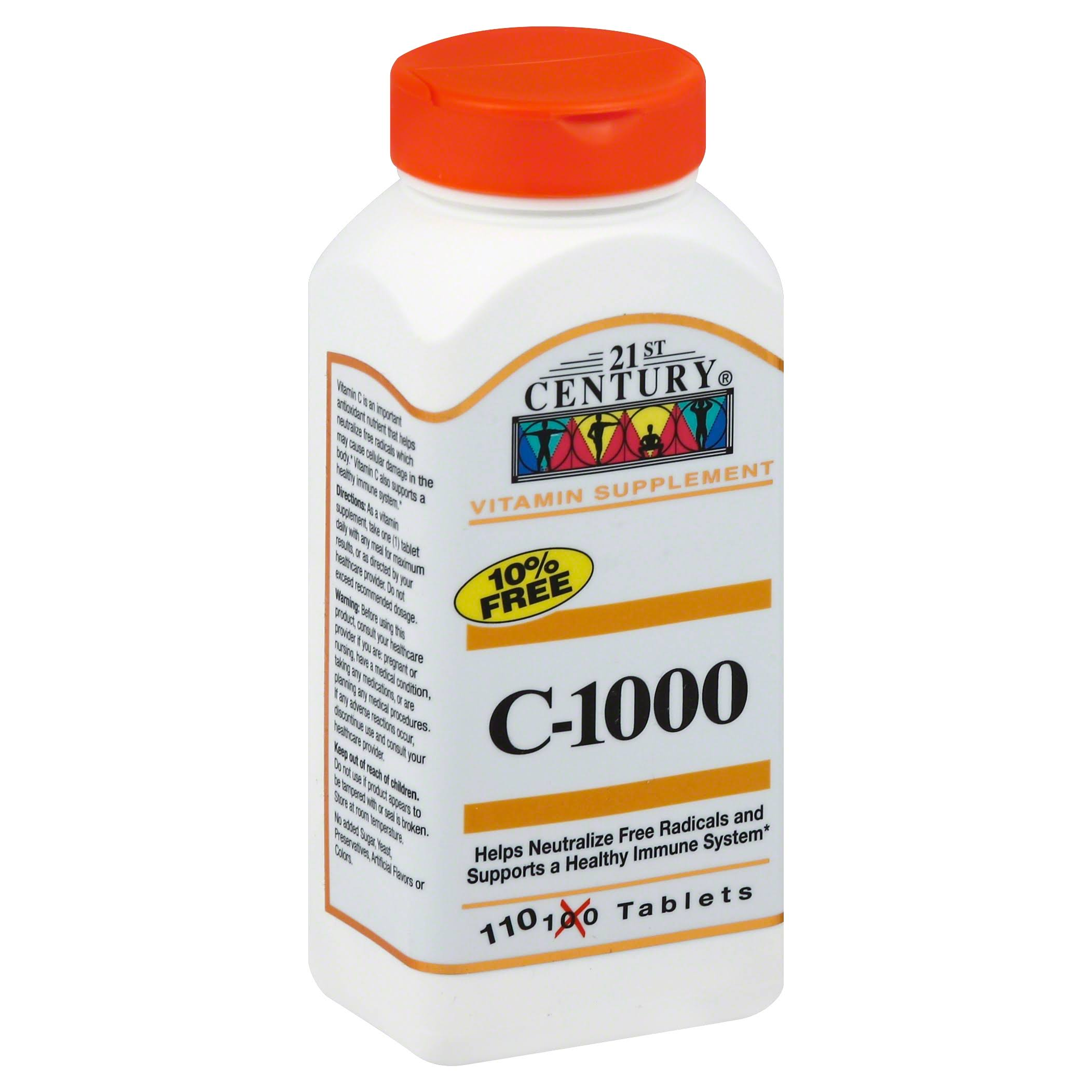 21st Century Health Care C1000 Vitamin Supplement - 110 Tablets
