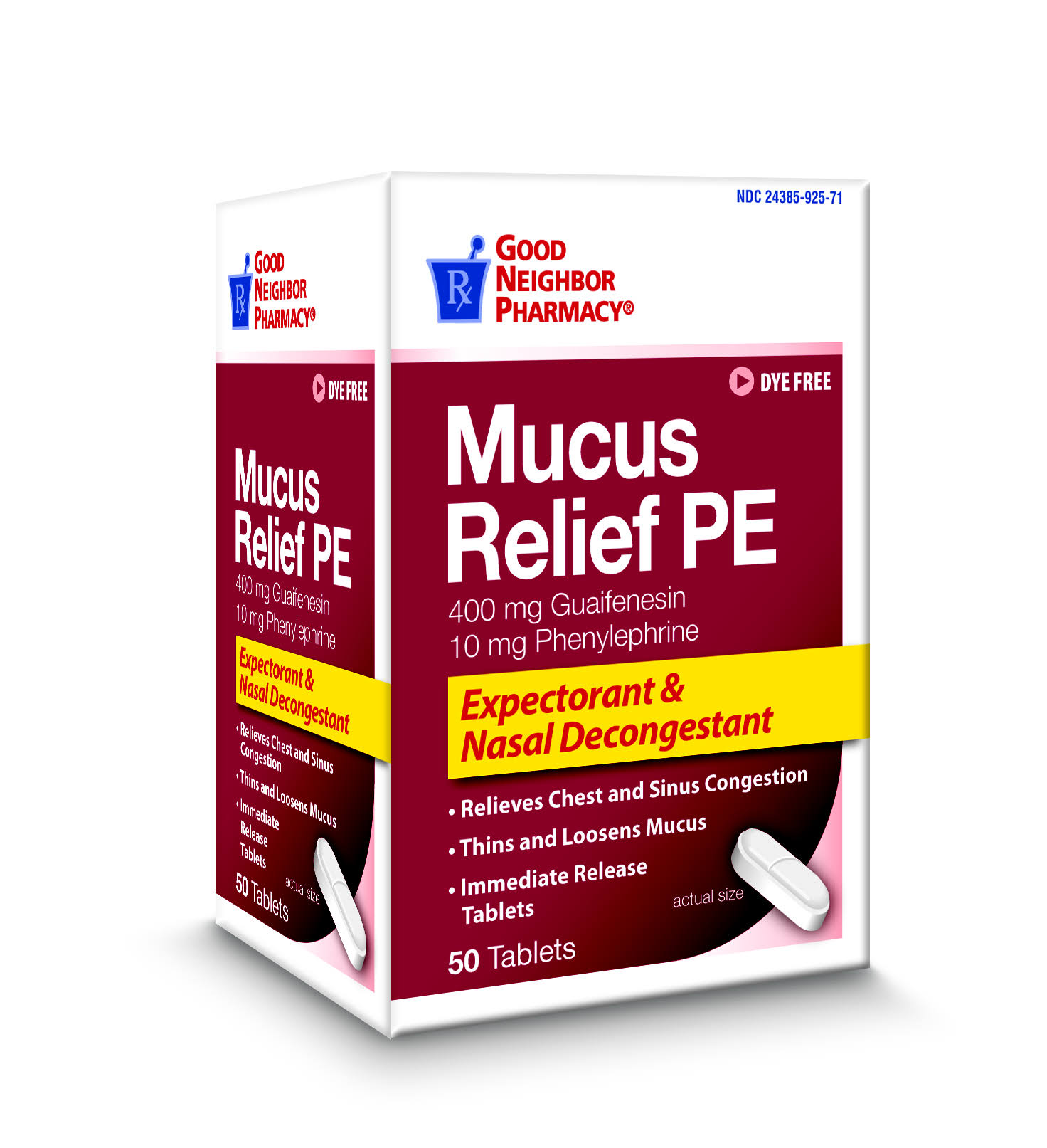 GNP Mucus Relief PE Expectorant & Nasal Decongestant 50 Tablets