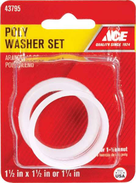 "Ace Poly Washer Set, 1.5"" x 1.5"" - 2 pack"