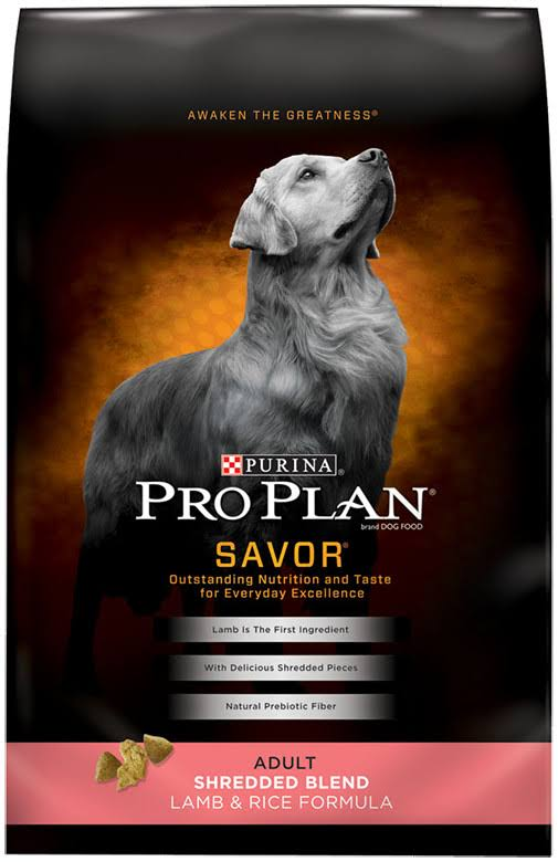 Pro Plan Savor Shredded Blend Adult Dry Dog Food - Lamb and Rice, 35lbs