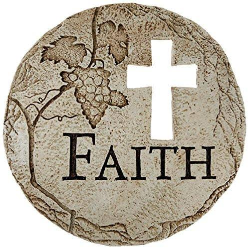 Roman Religious Cross Cut-Out Faith Decorative Garden Patio Stepping Stone 12-Inch
