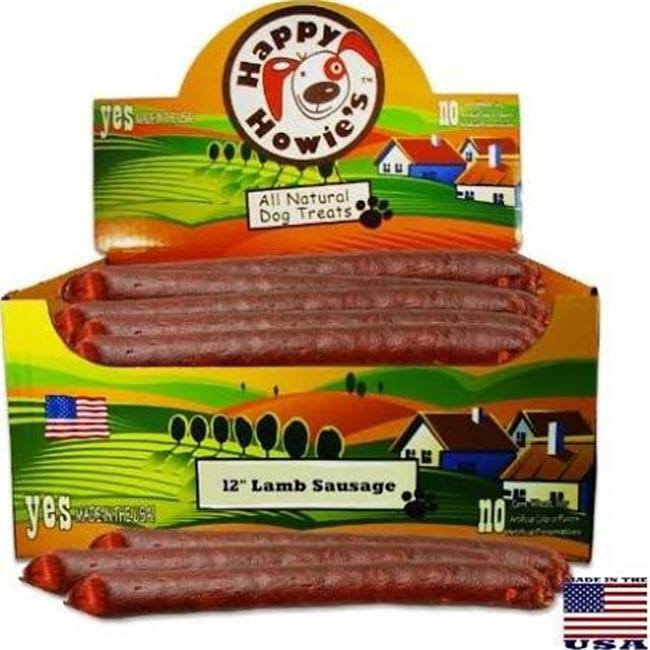 "Happy Howie's 12"" Lamb Sausage Links Dog Treat"