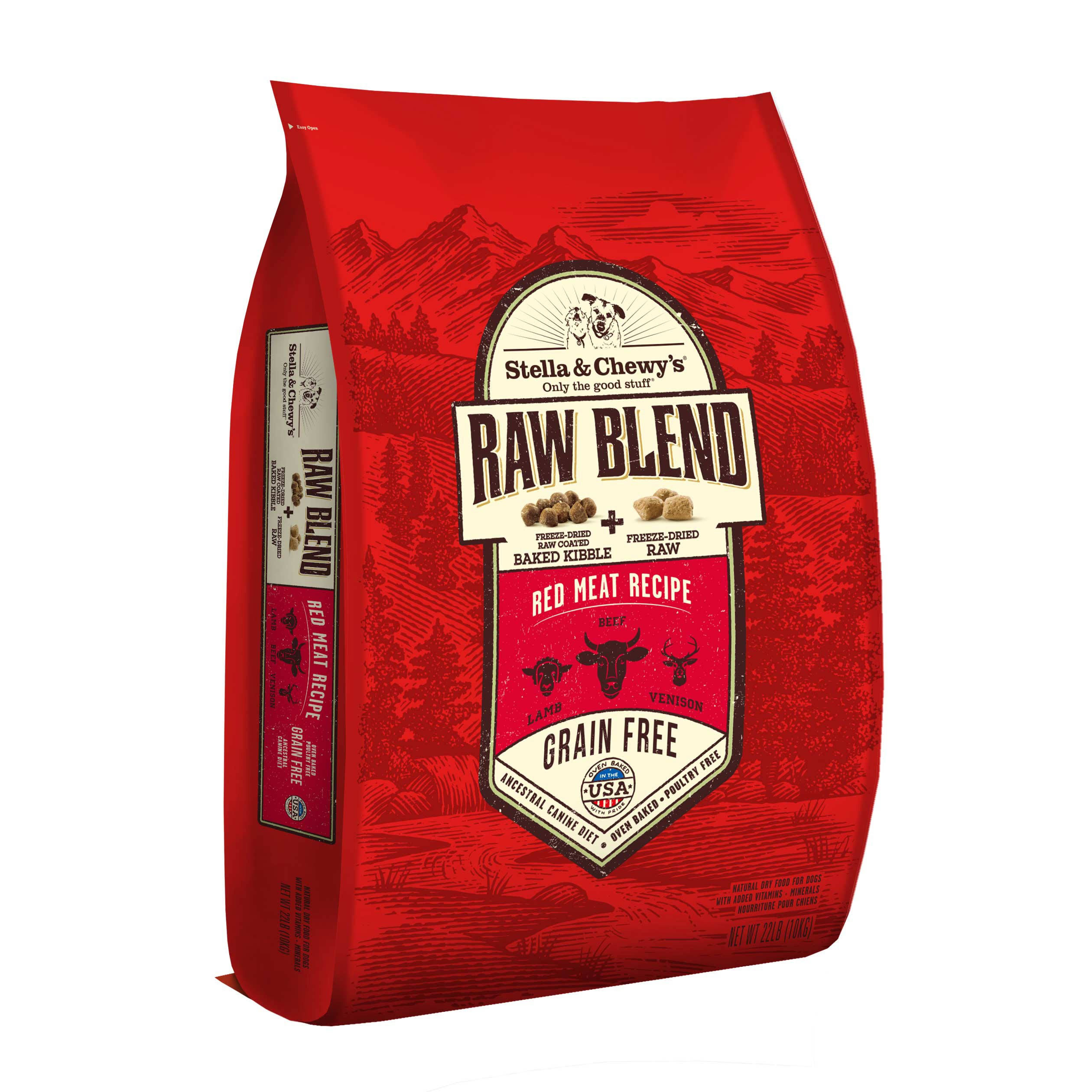 Raw Blend Kibble Red Meat Dog Food - 22lb