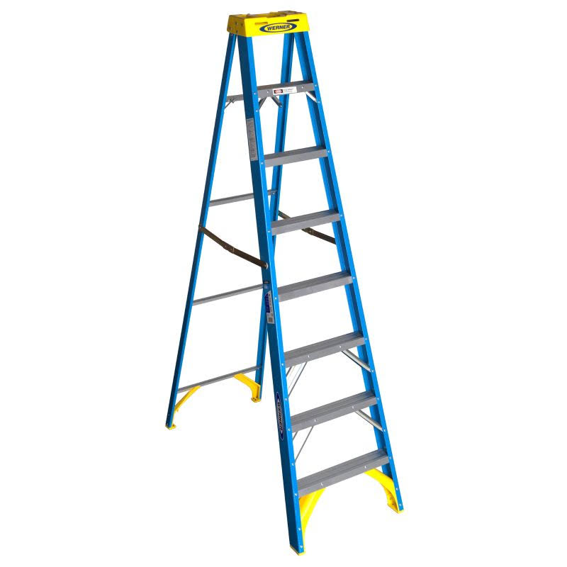 Werner 6008 Fiberglass Step Ladder - 8'