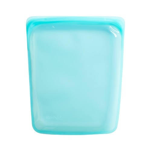 Stasher Reusable Silicone Food Bag - Aqua, 10""