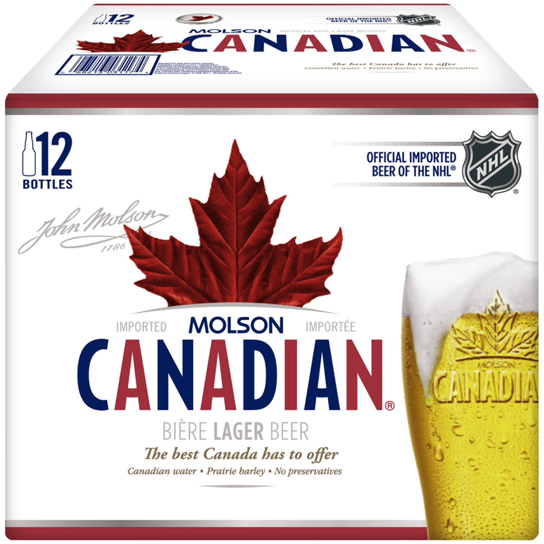 Molson Canadian Lager Beer - 12oz, 12pk