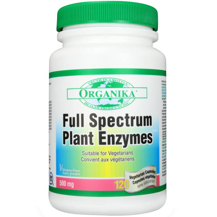 Organika Full Spectrum Plant Enzymes Dietary Supplement - 120ct