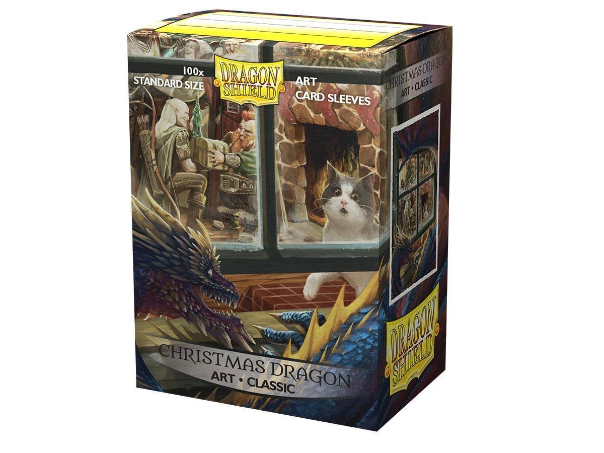Arcane Tinmen Dragon Shield Art Matte Christmas Dragon Card Sleeves - 100ct