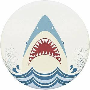 PopSockets Shark Jump Phone Grip - With Swappable, White