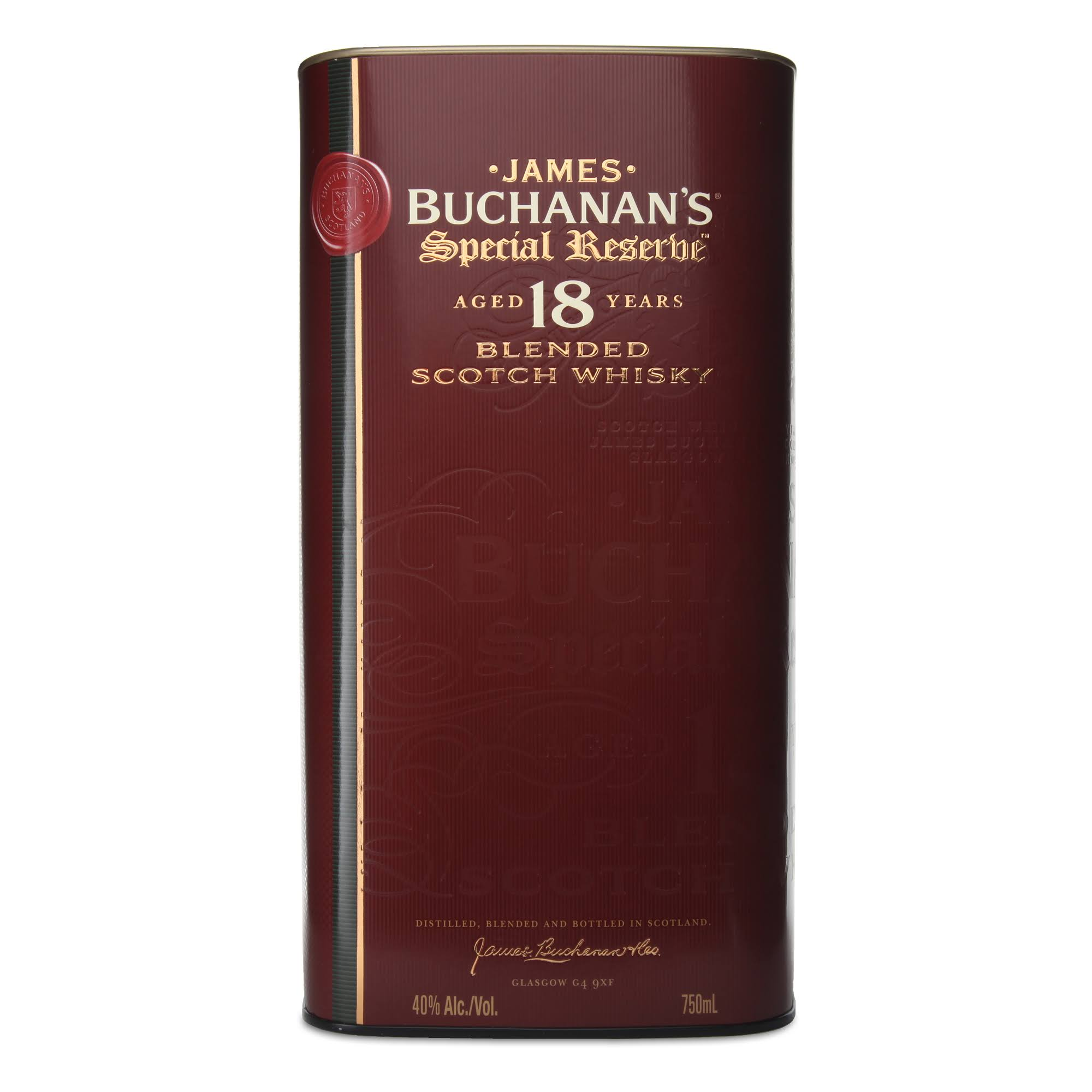 Buchanan's Blended Scotch Whisky - 18 Years Old, 750ml