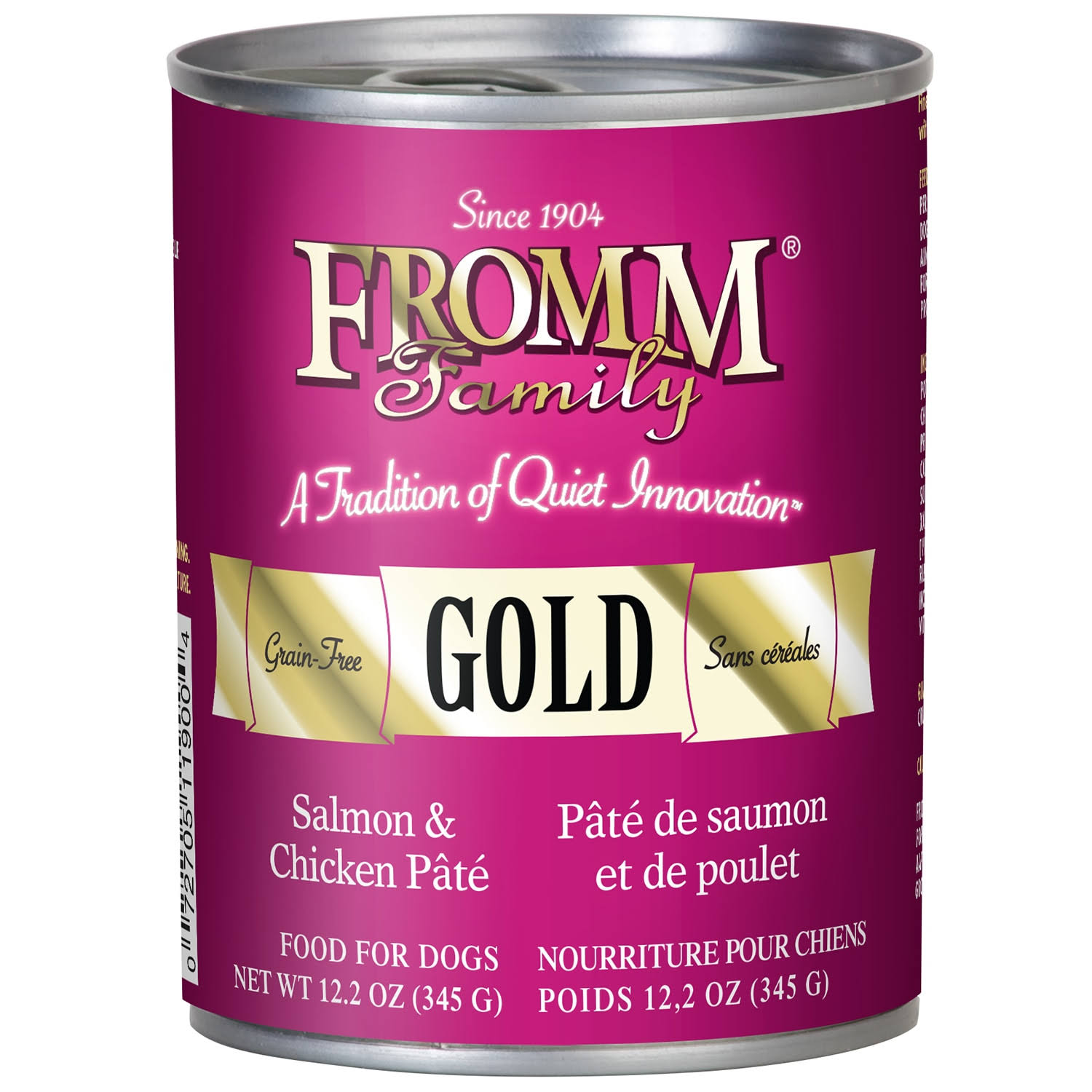 Fromm Gold Salmon & Chicken Pate Canned Dog Food 12.2 oz