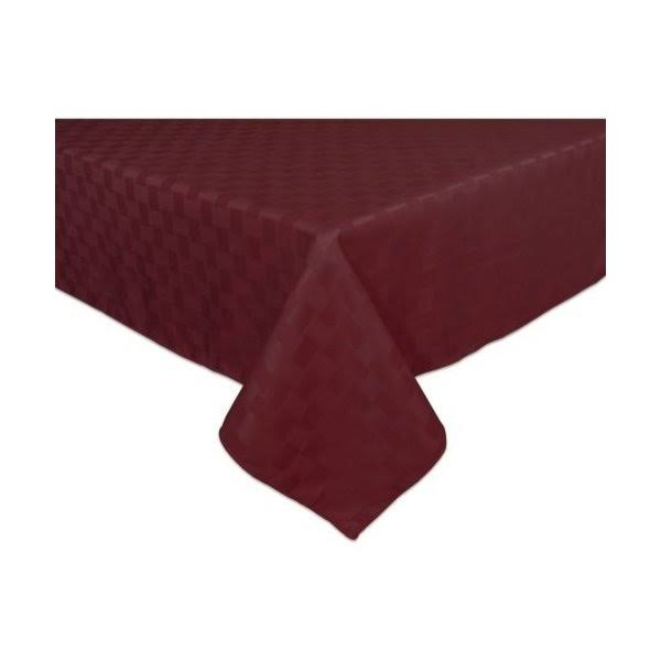 "Bardwil Reflections Spill Proof Oblong Rectangle Tablecloth - 60""x102"", Merlot"