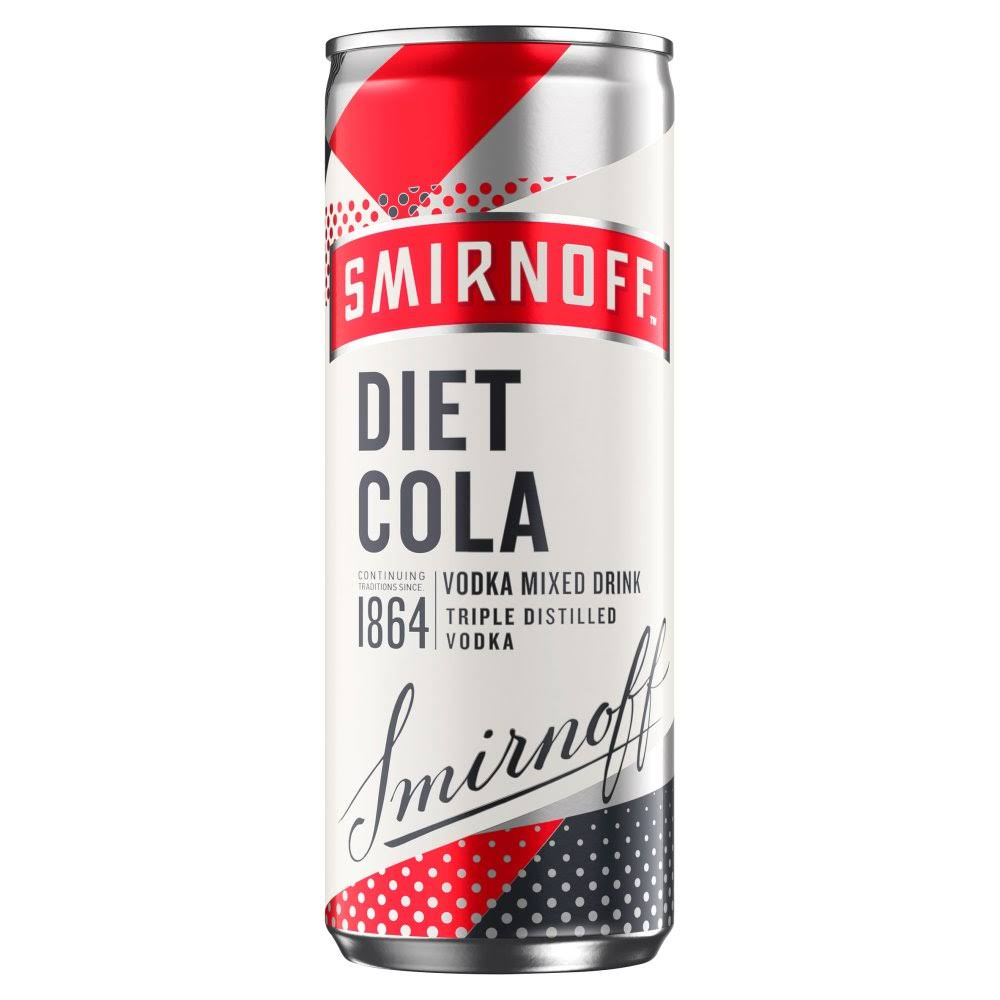 Smirnoff Vodka and Diet Cola Mixed Drink - 250ml