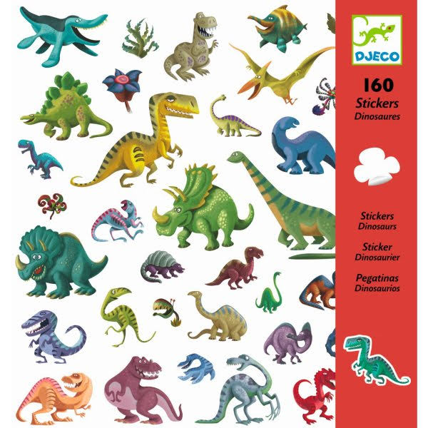 Djeco Dinosaurs Sticker Pack - 160 Piece