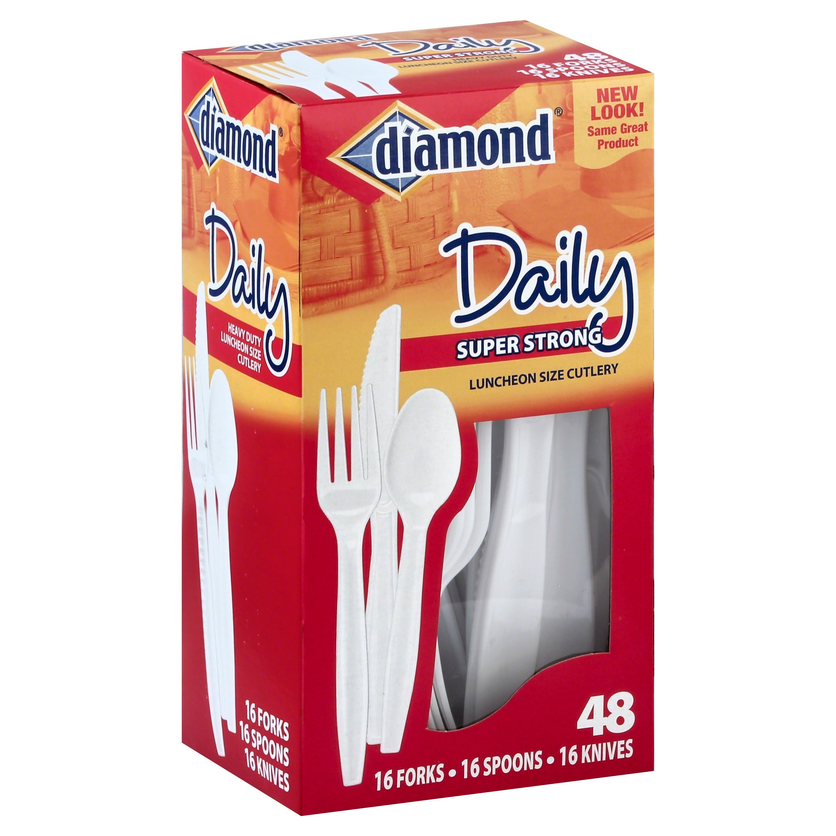 Jarden Home Brands Diamond Cutlery - 16 Forks, 16 Spoons, 16 Knives