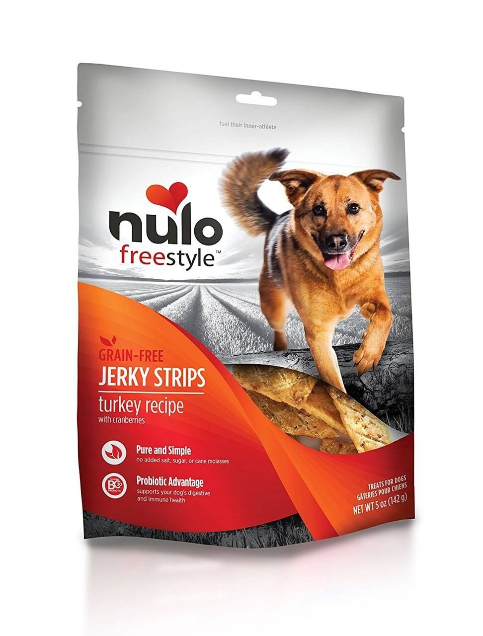 Nulo Freestyle Jerky Strips Dog Treats, Turkey with Cranberries / 5 oz