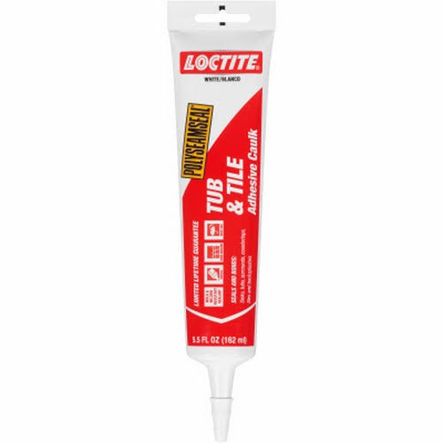 Loctite Tub & Tile Adhesive Caulk - White, 162ml