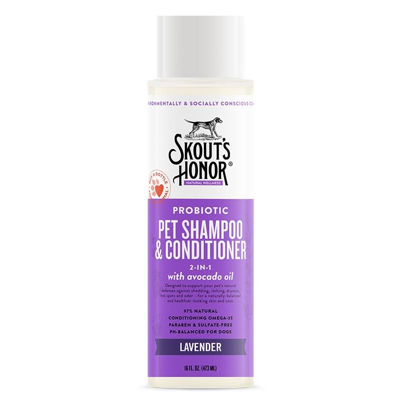 Skout's Honor Probiotic Lavender Shampoo & Conditioner 16oz