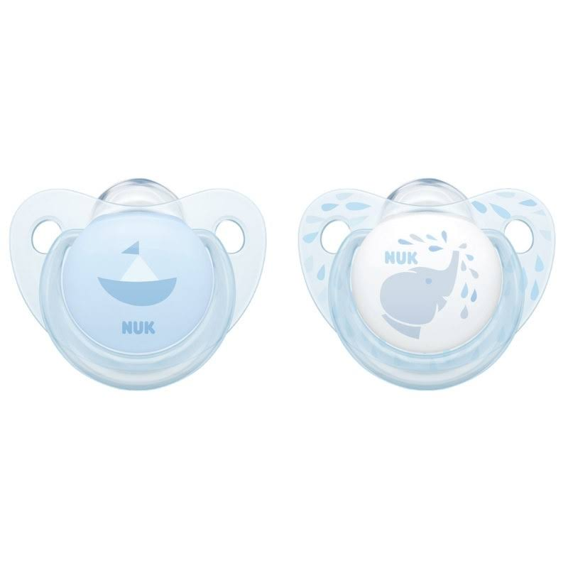 Nuk Baby Blue Silicone Soother 0-6 Months