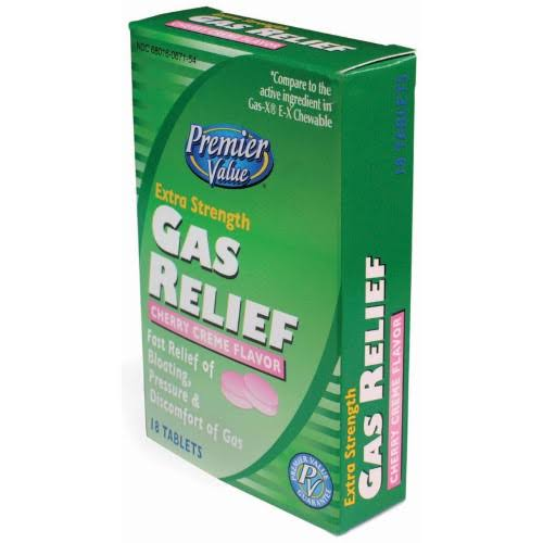 Premier Value Gas Relief XS Chew Cherry - 18ct
