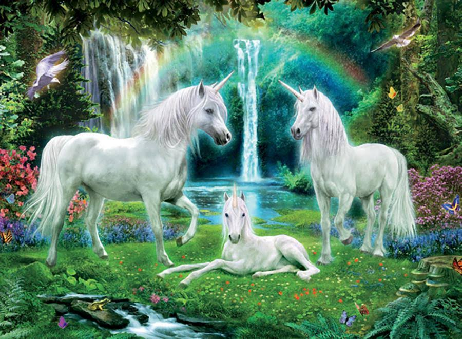 Ceaco Rainbow Unicorn Puzzle - 100pcs