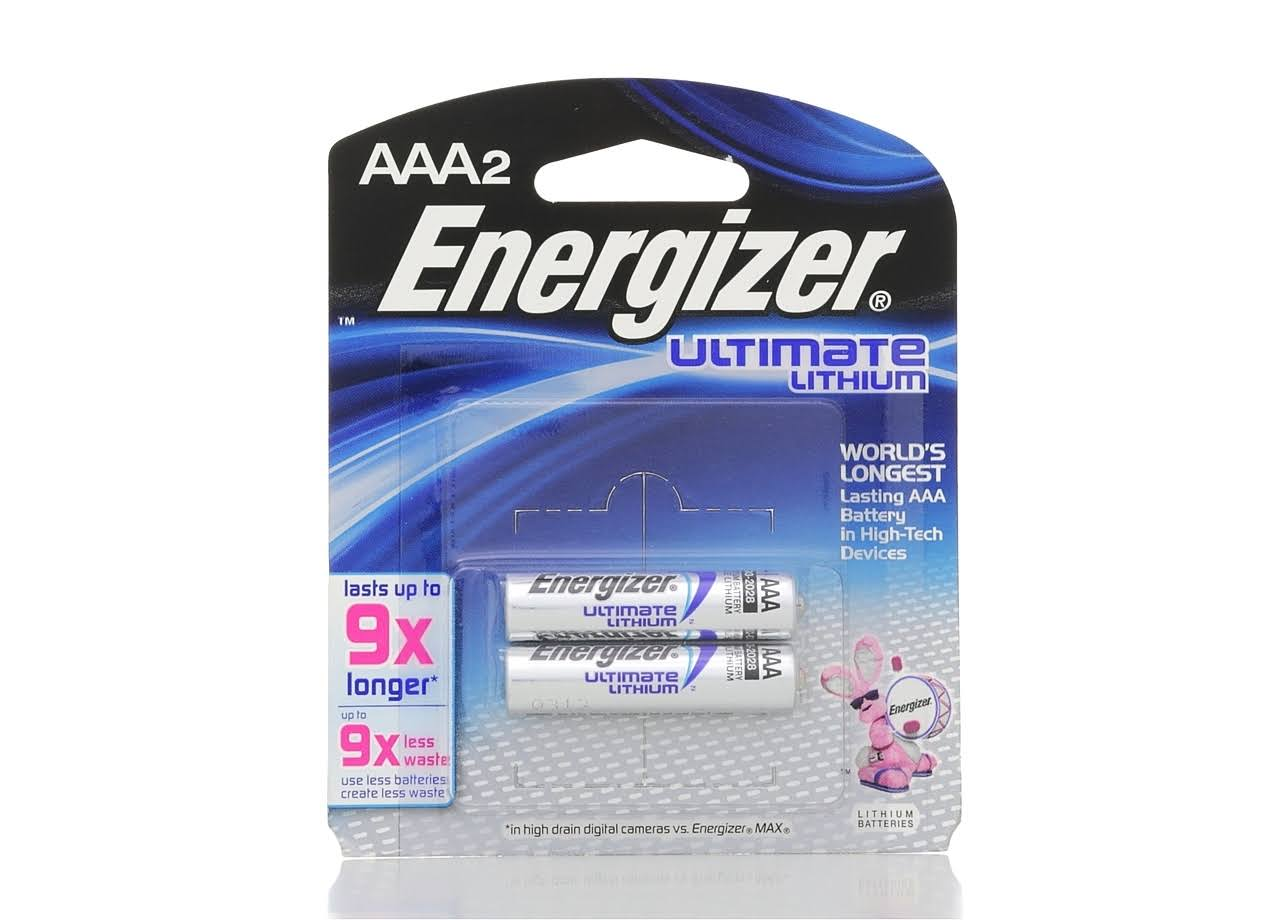 Energizer Lithium Batteries - Size AAA, 2 Pack