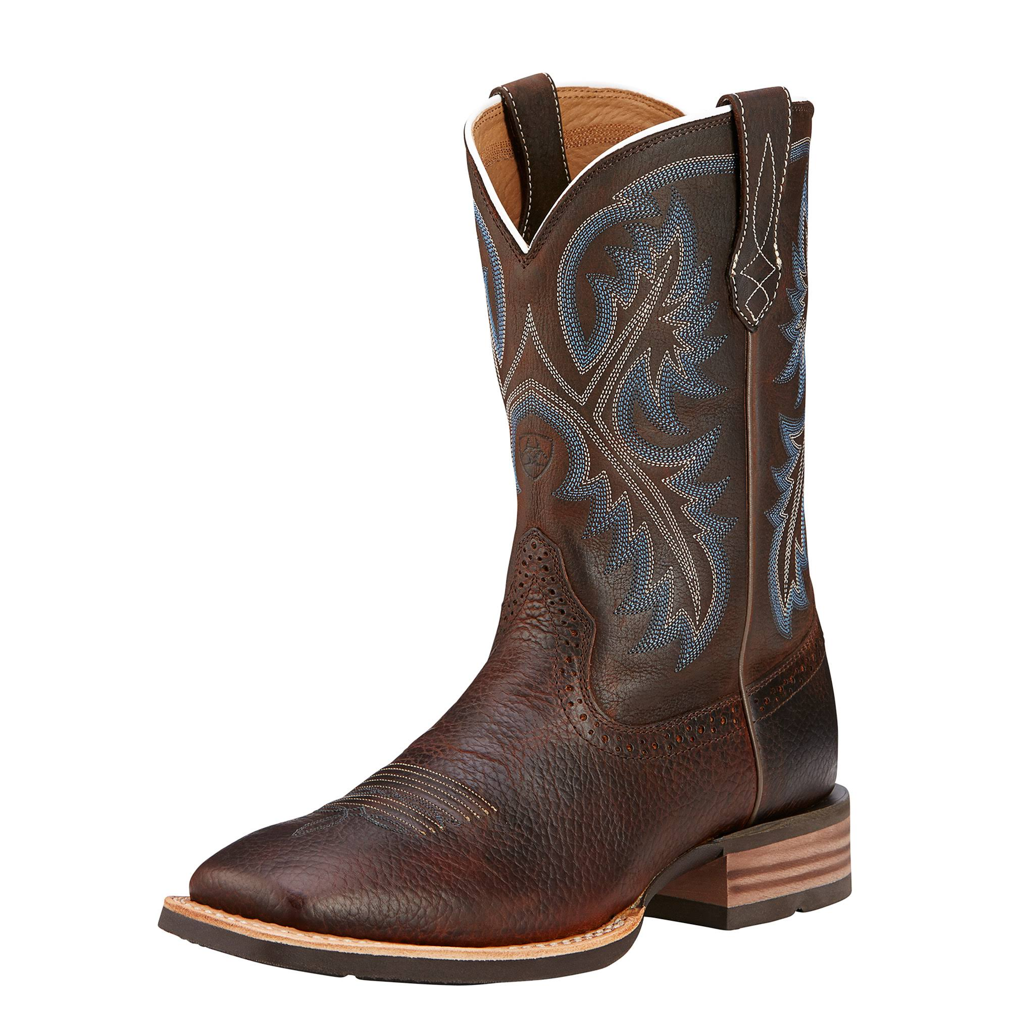 Ariat Men's Quickdraw Western Boot - Brown Oiled Rowdy, 12 US