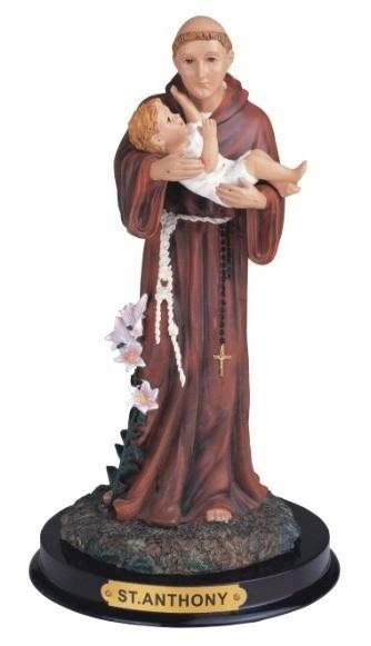 Stealstreet Ss-G-309.14 Saint Anthony Holy Figurine Religious Decoration Statue Decor, 9""