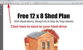 free 8x12 garden storage shed plans youtube